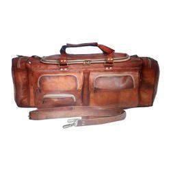 Vintage Leather Duffle Bag