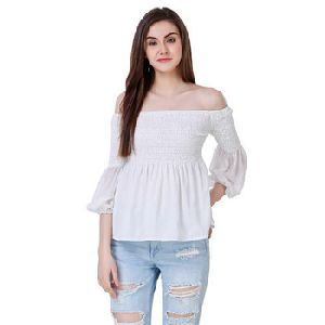 Off Shoulder Cotton Tops