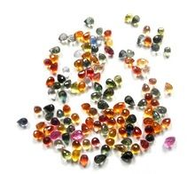 Aaa Quality Natural Multi Sapphire Drops Briollette Faceted Loose Gemstone