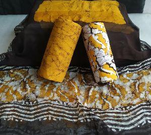 Block Printed Batik Print Cotton Suit