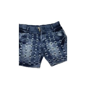 Ladies Fancy Denim Shorts