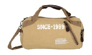 Canvas Leather Duffel Bag For Men