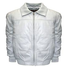 Home Base Classic-fit Leather Bomber Jacket