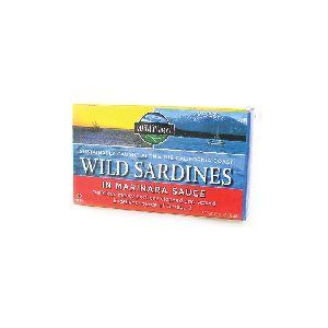 WILD SARDINES IN MARINARA SAUCE, 1 CAN