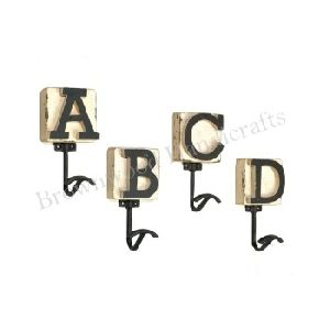 Wooden Letters Wall Decorative Mounted Wall Hook Design