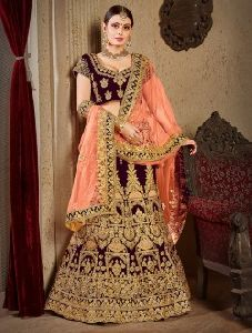 Designer Bridal Zari Stone Work Lehenga Choli