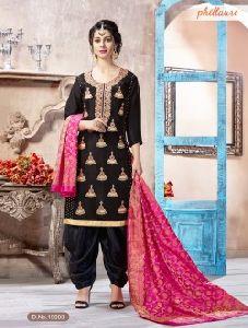 Designer Machine Work Rangoli Panjabi Style Patiala Suits
