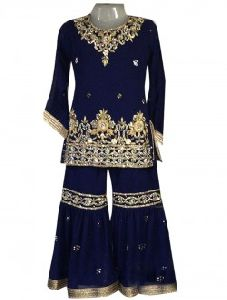 Embroidery Work Kids Sharara Suit