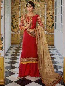 Festival Wear Designer Georgette Heavy Work Palazzo Salwar Suits