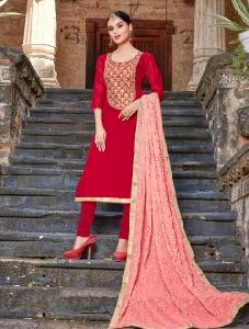 Gota Patti Work Churidar Suits