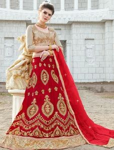 Party Wear Diamond Work Net Lehenga Cholis