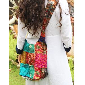 Indian Vintage Kantha Old Cotton Patchwork Bags