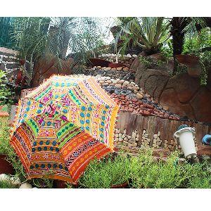 Rajasthani Sun Cotton Banjara Mirror Work Umbrellas Fashion Umbrellas