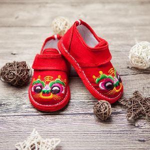 Kids Embroidered Footwear