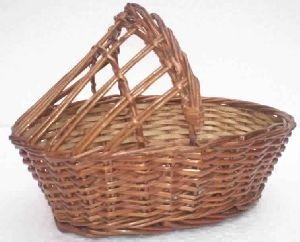 Bamboo Half Covered Basket