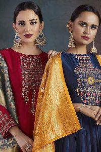 Shai Rhythm Designer Silk Salwar Suit