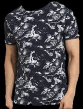 Black And White Pattern Men T-shirt