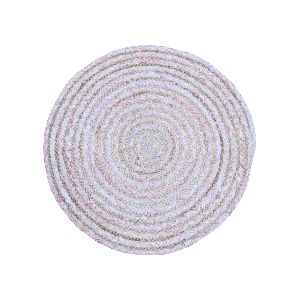 Braided Round Table Mats Cotton Jute Placemat
