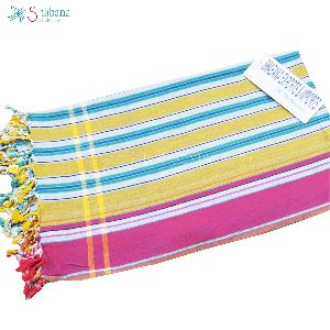 Woven Yarn Dyed Cotton Kikoy Beach Towel