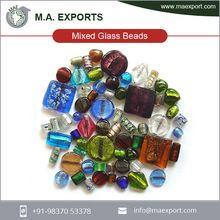Silver Foil Fancy Big Hole Mix Glass Beads