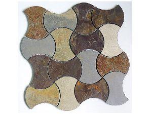 Marble Mosaic Dogbone Waterjet