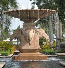Pure Sandstone Elephant Designed Fountain