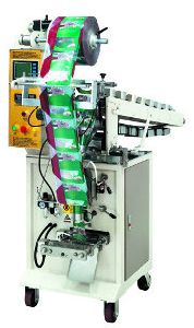 Vertical Potato Chips Packing Machine With Tray Conveyor