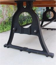 Industrial Cast Iron Dining Table