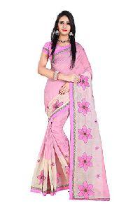 Ladies Embroidered Cotton Saree