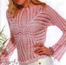 Crochet Lace Womens Top