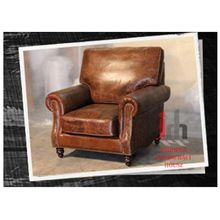 Industrial Pure Leather Made Single Seat Sofa/ Sofa Chair