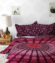 Hippie Duvet Covers Quilt Covers With Matching Pillows Queen Size Coverlet