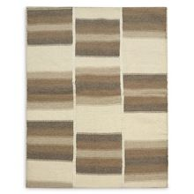 100% Oriented Handknotted Patchwork Rug Striped Handwoven Rug