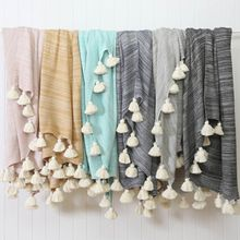 Cotton Knit Throw Soft Blanket