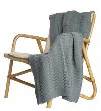 Cotton Knitted Throw