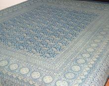 Hand Block Print Kantha Quilt Ajrakh Kantha Coverlet Ajrakh Kantha Bedspread