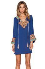 Elegance Embroidered Blue Kurta