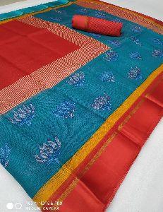 Bollu Wood Designer Fancy Cotton Saree