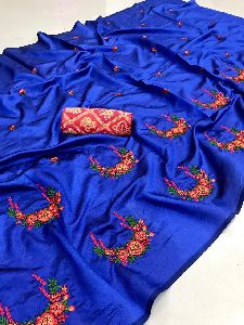 Mds Neacklace Sana Silk With Embroidery Saree