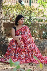 Vivo Nand Chanderi Saree With Patola Print