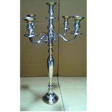 Wedding Tall Candelabra Silver Gold Finished For Tabletop Decoration