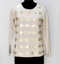 Plain Top With Sequins Work