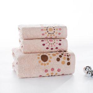 Cotton Striped Towels Set 3 Pcs