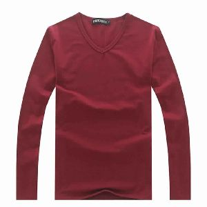 Mens Plain Pattern V Neck Casual Tshirts