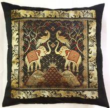 Premium Quality Elephant Zari Cushion Covers 5pcs Set With High Quality Zipper Home Decor