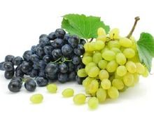 Black And Green Seedless Grapes