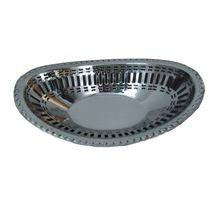 Stainless Steel Oval Bread Basket