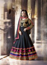 Pure Georgette Anarkali Suits With Hand Embroidery