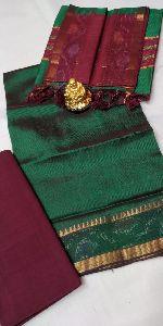 Handloom Pattu Silk Dress Material