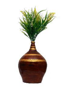 Golden Money Bank With Flower Pot